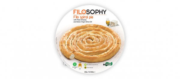 Filosophy FILOSOPHY FILO SPIRAL WITH FETA CHEESE & EXTRA VIRGIN OLIVE OIL 850G