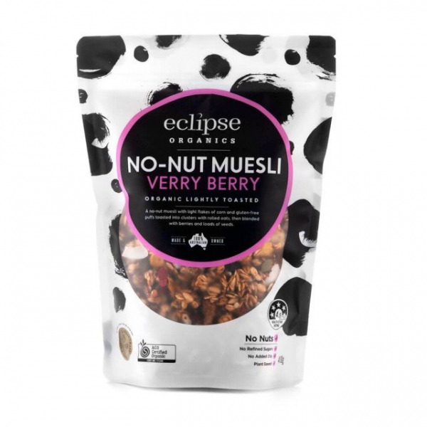Eclipse Organics ECLIPSE ORGANICS NO-NUT MUESLI VERY BERRY 450G