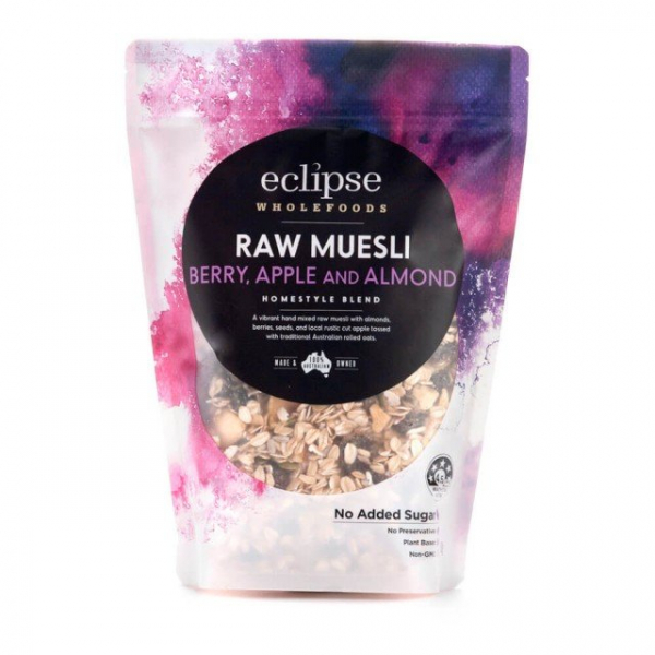 Eclipse Organics ECLIPSE WHOLEFOODS RAW MUESLI BERRY, APPLE & ALMOND 500G