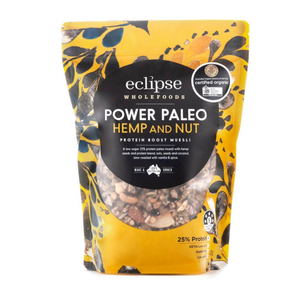 ECLIPSE WHOLEFOODS POWER PALEO HEMP & NUT 425G 09344338004455.