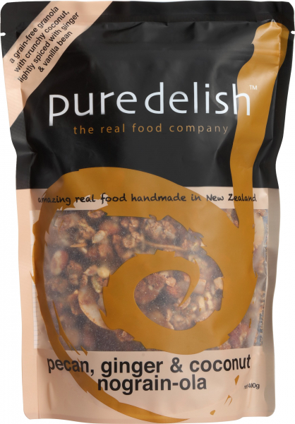 Pure Delish PURE DELISH PECAN, GINGER & COCONUT NO GRAIN-OLA 400G