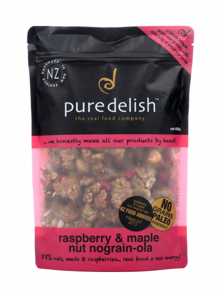 Pure Delish PURE DELSH RASPBERRY & MAPLE NUT NO GRAIN-OLA 400G