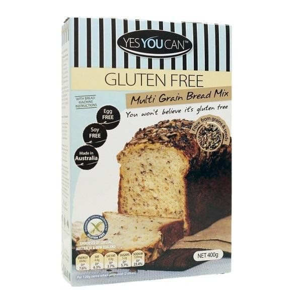 Yes You Can YES YOU CAN MULTIGRAIN BRED MIX GLUTEN FREE 400G