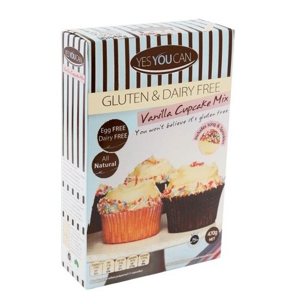 Yes You Can YES YOU CAN VANILLA CUPCAKE MIX GLUTEN & DAIRY FREE 470G