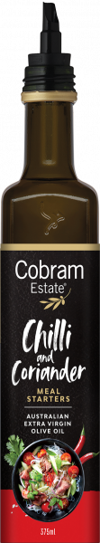 COBRAM ESTATE CHILLI  & CORRIANDER OIL 375ML 00852696000570.