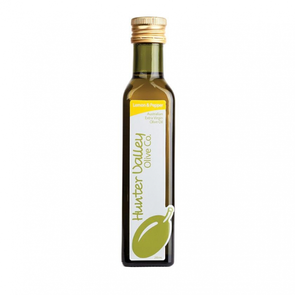 Hunter Valley Olive Co HUNTER VALLEY OLIVE CO. LEMON & PEPPER EXTRA VIRGIN OLIVE OIL 250ML