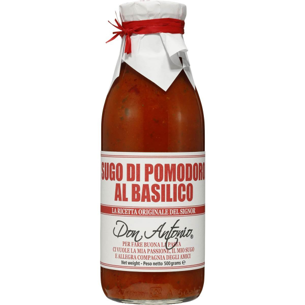 Don Antonio Pasta Sauce DON ANTONIO BASIL HEAT & SERVE PASTA SAUCE 500G