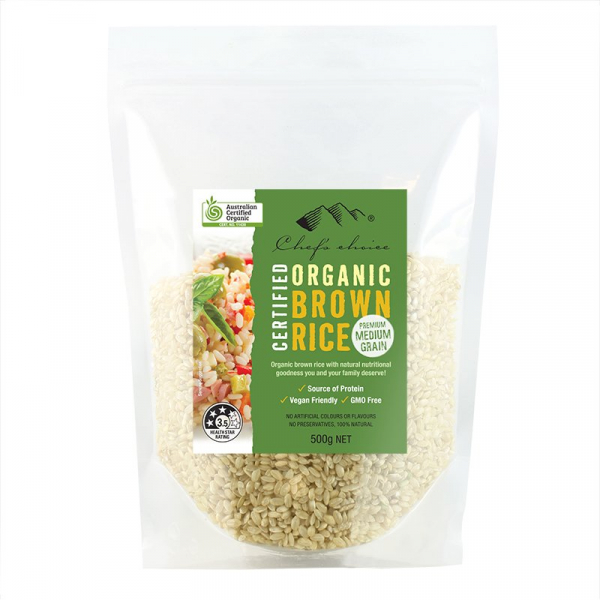Chef\'s Choice CHEF'S CHOICE ORGANIC BROWN RICE 500G