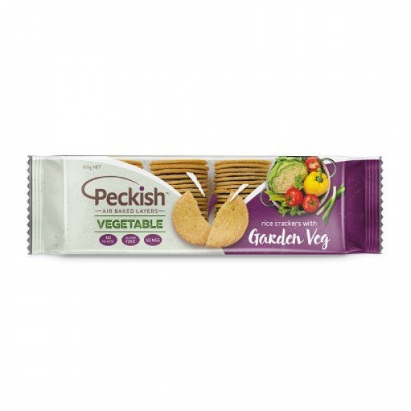 Peckish PECKISH VEGETABLE GARDEN VEG RICE CRACKERS 100G