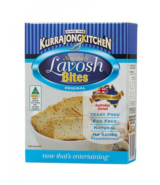 Kurrajong Kitchen KURRAJONG KITCHEN LAVOSH BITES ORIGINAL 145G