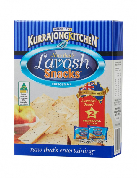 Kurrajong Kitchen KURRAJONG KITCHEN LAVOSH SNACKS (2 X 50G) 100G