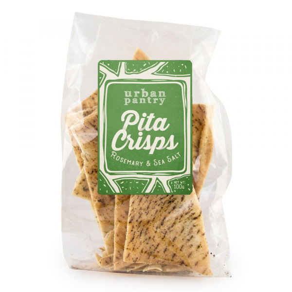 Urban Pantry URBAN PANTRY PITA CRISPS ROSEMARY & SEA SALT 100G