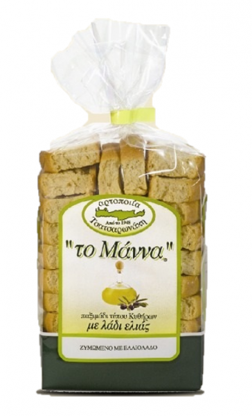 The Manna MANNA RUSKS WITH EXTRA VIRGIN OLIVE OIL 500G