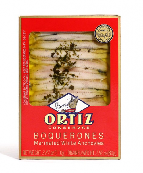 Ortiz ORTIZ MARINATED WHITE ANCHOVIES 110G