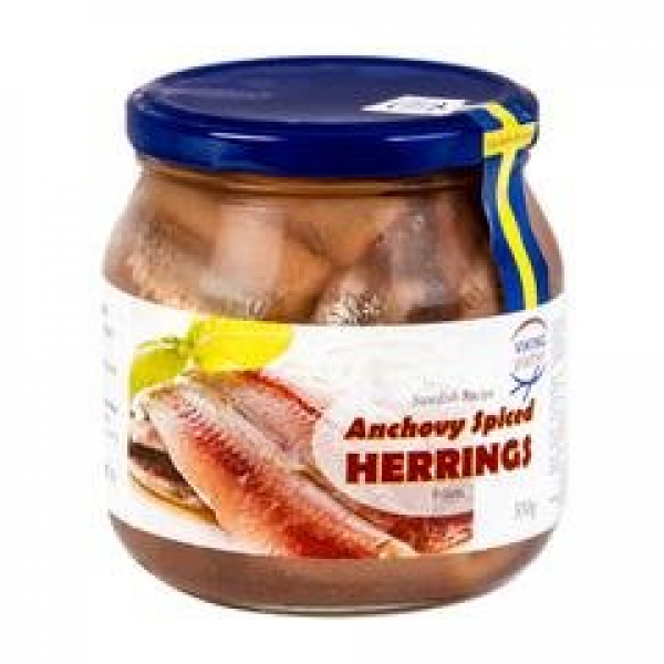 Viking VIKING ANCHOVY SPICED HERRING 550G