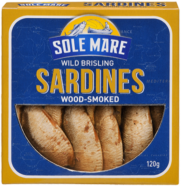 Sole Mare SOLE MARE WILD BRISLING SARDINES WOOD SMOKED 120G