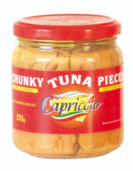 Capriccio CAPRICCIO CHUNKY TUNA PIECES IN OLIVE OIL 190G