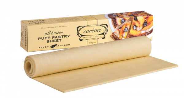 CAREME PUFF PASTRY SHEET BUTTER 375G 09339098000007.