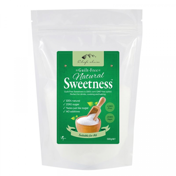 CHEF'S CHOICE NATURAL SWETNESS XYLITOL 500G 09339337004636.
