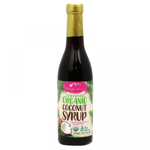 CHEF'S CHOICE ORGANIC COCONUT SYRUP 375ML 09339337302817.