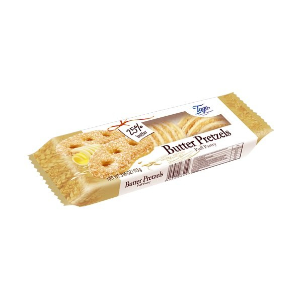 Tago TAGO BUTTER PRETZELS PUFF PASTRY113G