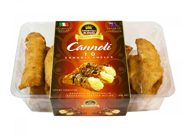CROSTOLI KING CANNOLI SHELLS 180G (10 PIECES) 09326770000547.