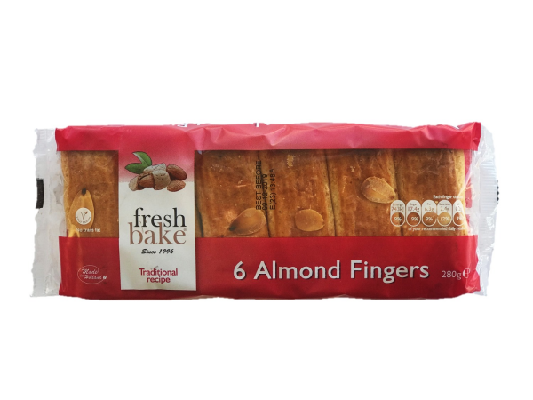 The Ducth Company FRESHBAKE ALMOND FINGERS 280G