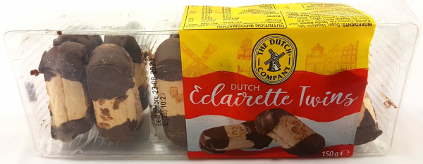 The Dutch Company THE DUTCH COMPANY ECLAIRETTE TWIN BISCUITS 150G