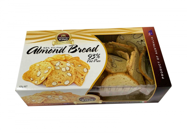 Crostoli King CROSTOLI KING ALMOND BREAD 93% FAT FREE 100G