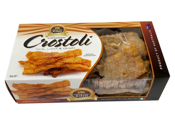 Crostoli King CROTOLI KING CINNAMON CROSTOLI 60G