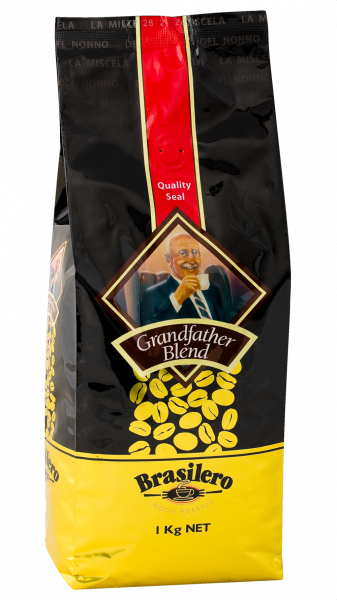 Brasilero Coffee BRASILERO GRANDFATHER BLEND BEANS 1KG