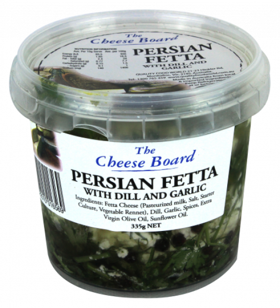 The Cheese Board THE CHEESE BOARD PERSIAN FETTA 335G